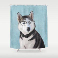 Mr Husky Shower Curtain