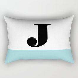 Monogram Letter J-Pantone-Limpet Shell Rectangular Pillow