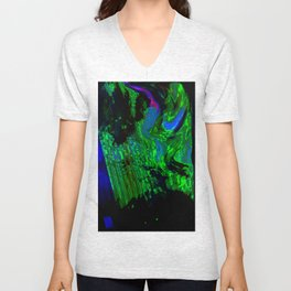 ALTERED PIXL STATES XI [BLUE PEARL] Unisex V-Neck