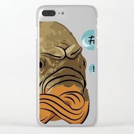 Grumpy fish Clear iPhone Case