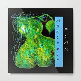 Abstract Pear Metal Print
