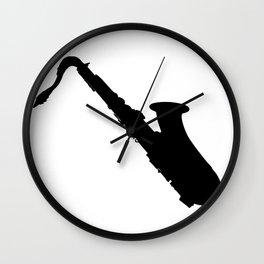Saxophone Silhouette Wall Clock