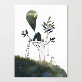 Tiny Tree House Canvas Print