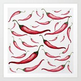 Hot&spicy chili Art Print