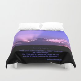 Serenity Prayer - III Duvet Cover