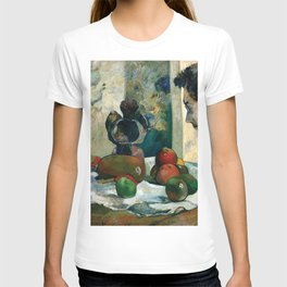 Still Life with Profile of Laval by Paul Gauguin T-shirt