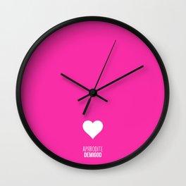 Aphrodite Demigod Wall Clock