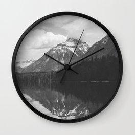 Peace At Lake McDonald  Wall Clock