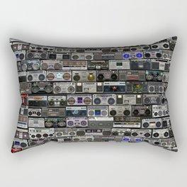 Boom Box Wall with BIG BASS SOUND Rectangular Pillow