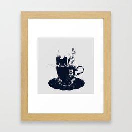 Having Tea With my Lovely Cat Framed Art Print