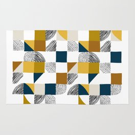 Square, Dots and Lines Rug