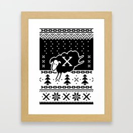 Out Of Step Xmas Framed Art Print