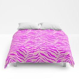 Tiger Print - Pink & Pink Comforters