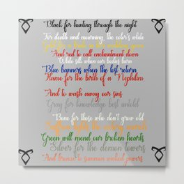 Shadowhunter rhymes Metal Print