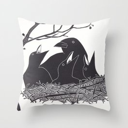 Safe in the Nest Throw Pillow