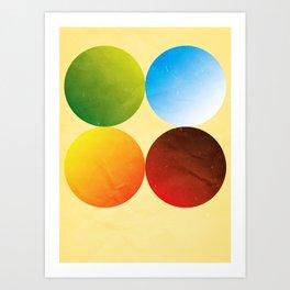 Minimalist Seasons Art Print