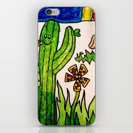 Cactus in a pizza paradise iPhone Skin