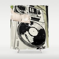 dj Shower Curtains featuring DJ! by Parrish