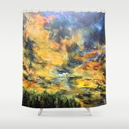 Remembering Baguio's 182 Pine Trees Shower Curtain