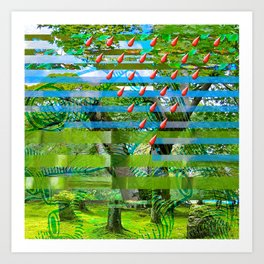 Landscape of My Heart (segment 2) Art Print