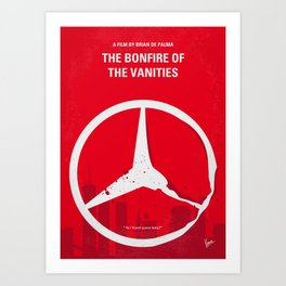 No955 My The Bonfire of the Vanities minimal movie poster Art Print