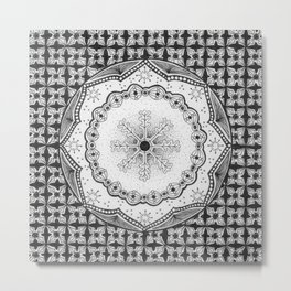 Zendala - Zentangle®-Inspired Art - ZIA 23 Metal Print