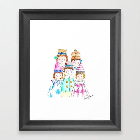 Circus Friends Framed Art Print