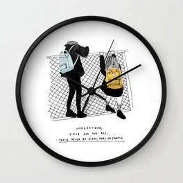 You'll never be alone Wall Clock