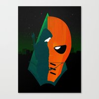deathstroke Canvas Prints featuring Arrows and Regrets by emodist