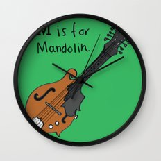 M is for Mandolin Wall Clock