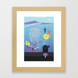 Honolulu Aquarium Poster Framed Art Print