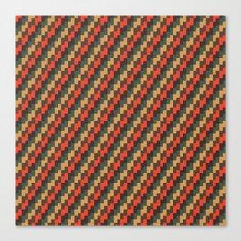 Brown Zig Zags Canvas Print