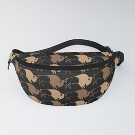 Native American Buffalo Running Fanny Pack