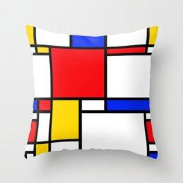 Piet Pattern Throw Pillow