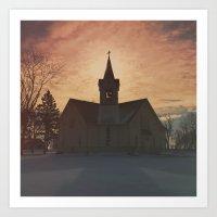 Minnnesota Church Art Print