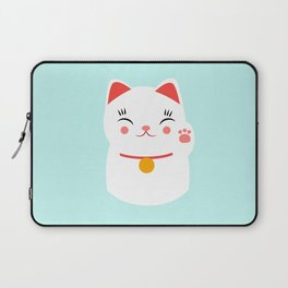 Lucky happy Japanese cat Laptop Sleeve
