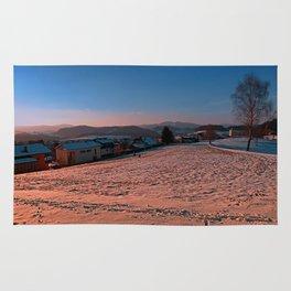 A winter wonderland sundown | landscape photography Rug