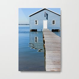 The Blue Boat House Metal Print