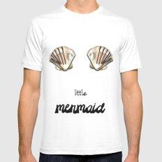 Mermaid MEDIUM Mens Fitted Tee White