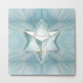 Merkabah - Light Marble Metal Print