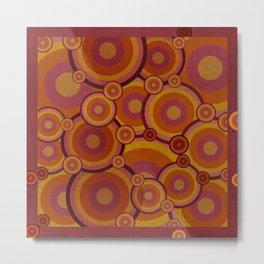 """""""Retro Bubble Gum Circles"""" Metal Print"""
