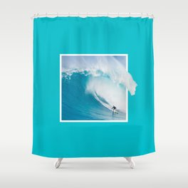 GRAPHIC SURF TRIP Shower Curtain