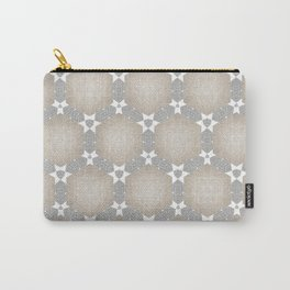 Grey Taupe Hexagon Star Pattern Carry-All Pouch
