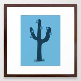Cactus Blue Framed Art Print
