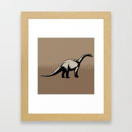 ChocoPaleo: Brontosaurus Framed Art Print