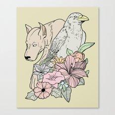 si canem corvus Canvas Print