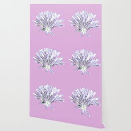 Flower | Pink Chive Floral | Nadia Bonello Wallpaper