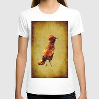 crow T-shirts featuring Crow by Joe Ganech