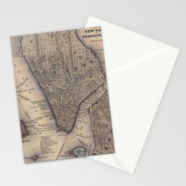 Lower Manhattan New York City Stationery Cards