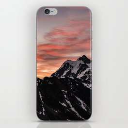 Pink Sky - Cascade Mountains - Nature Photography iPhone Skin